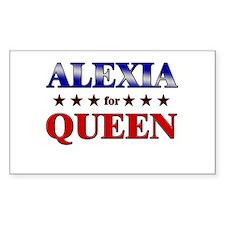 ALEXIA for queen Rectangle Decal