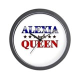 ALEXIA for queen Wall Clock
