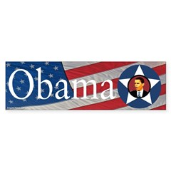 Obama American Flag Bumper Sticker