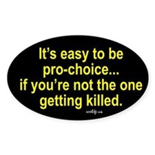 Pro-life Oval Decal