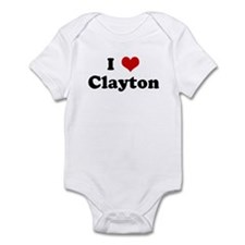 I Love Clayton Infant Bodysuit