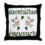 Irish Grandmother (Floral) Throw Pillow