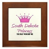 South Dakota Princess Framed Tile