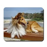 Sheltie on the Beach Mousepad