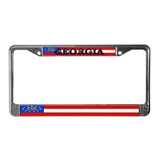 Georgia Georgian State Flag License Plate Frame