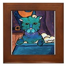Wet Cat Framed Tile