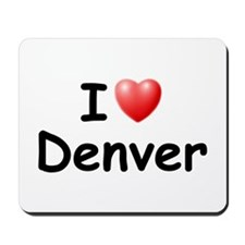 I Love Denver (Black) Mousepad