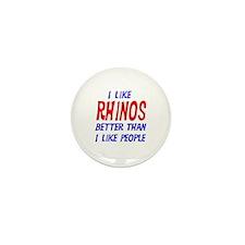 I Like Rhinos Mini Button (100 pack)