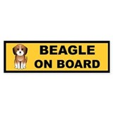 Beagle On Board Bumper Bumper Sticker