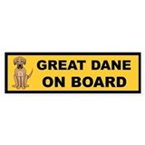 Great Dane on Board Bumper Car Sticker