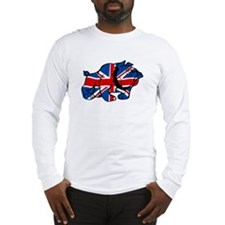 Union Jack Brit Bulldog Long Sleeve T-Shirt