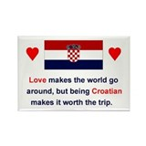 Croatian Love Rectangle Magnet