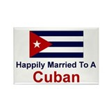 Happily Married To Cuban Rectangle Magnet (10 pack
