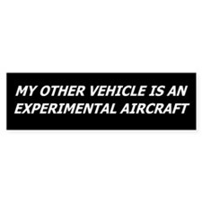 Experimental Aircraft Bumper Car Sticker