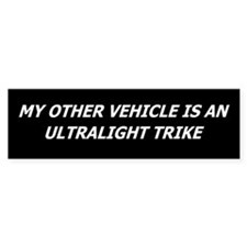 Ultralight Trike Bumper Car Sticker