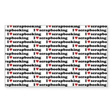 I {heart} Scrapbooking Pattern Sticker (Rectangula