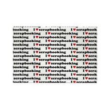 I {heart} Scrapbooking Pattern Rectangle Magnet (1
