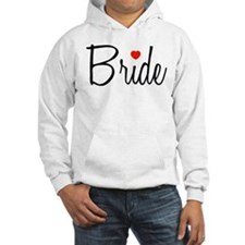 Bride (Black Script With Heart) Hoodie