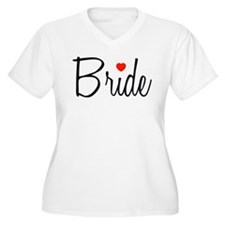 Bride (Black Script With Heart) T-Shirt