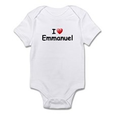 I Love Emmanuel (Black) Infant Bodysuit