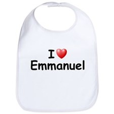 I Love Emmanuel (Black) Bib