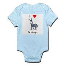 I love donkeys Infant Bodysuit