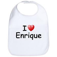 I Love Enrique (Black) Bib
