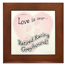 Retired Racers Love Is Framed Tile