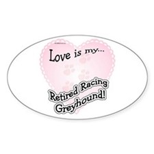 Retired Racers Love Is Oval Decal