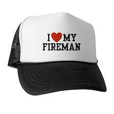 I Love my Fireman Cap