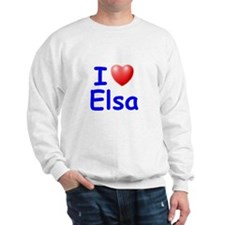 I Love Elsa (Blue) Sweatshirt