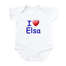 I Love Elsa (Blue) Infant Bodysuit