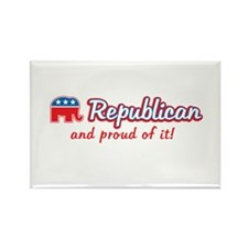 Republican and Proud Of It Rectangle Magnet (100 p