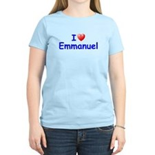 I Love Emmanuel (Blue) T-Shirt