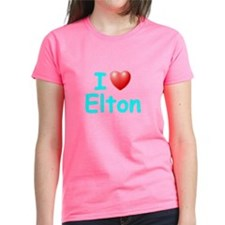 I Love Elton (Lt Blue) Tee