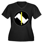 An Tir MoL Women's Plus Size V-Neck Dark T-Shirt