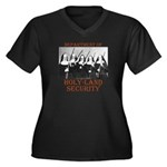 Holy-Land Security Women's Plus Size V-Neck Dark T
