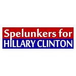 Spelunkers for Clinton bumper sticker
