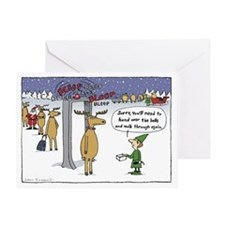 """Sleigh Security"" Greeting Card"
