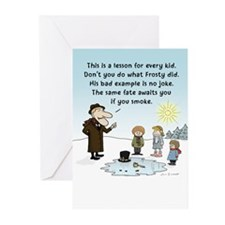 """Frosty's Bad Example"" Greeting Cards (Pk of 20)"