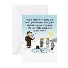 """Frosty's Bad Example"" Greeting Cards (Pk of 10)"