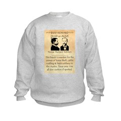 Wanted Blackjack Ketchum Kids Sweatshirt