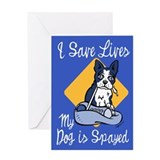 My Dog Is Spayed Greeting Card