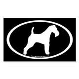 Wire Fox Terrier Oval(wh/blk)Rectangle Decal