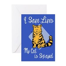 My Cat is Spayed Greeting Cards (Pk of 20)