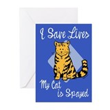 My Cat is Spayed Greeting Cards (Pk of 10)