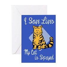 My Cat is Spayed Greeting Card