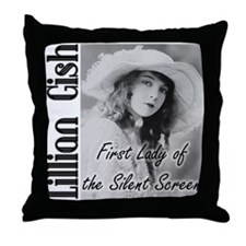 Lillian Gish Throw Pillow