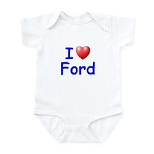 I Love Ford (Blue) Infant Bodysuit