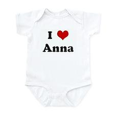 I Love Anna Infant Bodysuit